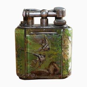 Englisches handgemachtes Aquarium Feuerzeug von Dunhill, 1950er