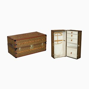 French Wardrobe Steamer Trunk with Stencil Monogram from Louis Vuitton, 1920s