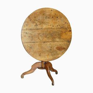 Antiker Cricket Tisch aus Obstholz mit 3 Planken, 1800er