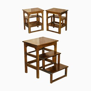 Metamorphic Library Steps and Side Tables, Set of 2