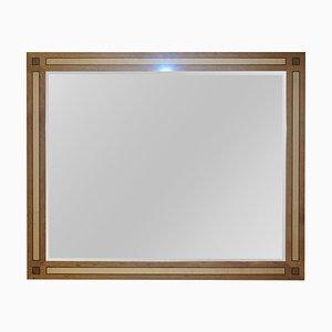 Grand Miroir Overmantle en Noyer et Sycomore par David Linley