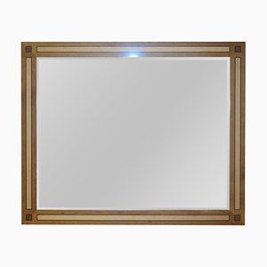 Large Burr Walnut & Sycamore Overmantle Mirror by David Linley