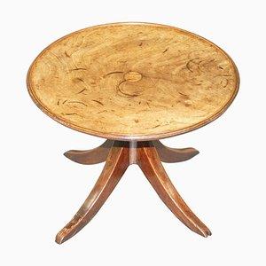 English Walnut Round Side Table, 1840s