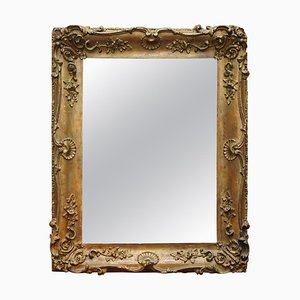 French Giltwood Wall Mirror with Ornately Carved Frame, 1880-1900