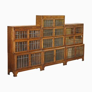 Minty Oxford Legal Library Stacking Bookcases, Set of 3