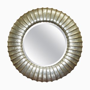 Gold and Silver Leaf Giltwood Wall Mirror by Christopher Guy