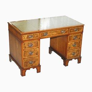 Victorian Burr Oak & Walnut Merryweather Desk, 1885