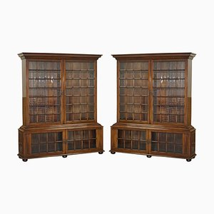 Große Bibliothek Bücherregale von Samuel Pepys, 1666, 2er Set