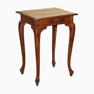 Vintage Hardwood Single Drawer Side Table