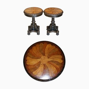 Speciamine Wood Topped Occasional Side or Wine Tables, Set of 2