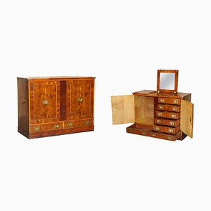 Burr Yew Wood Dressing Table