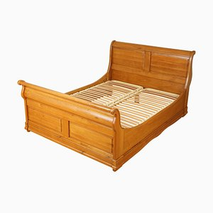 Vintage Oak Double Sleigh Bed Frame by Waring & Gillow
