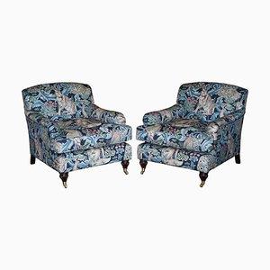 Forest Leinen Armlehnstühle von William Morris, 2er Set
