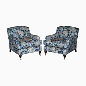 Forest Linen Armchairs by William Morris, Set of 2