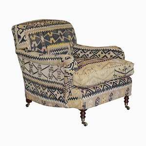 Large Signature Scroll Armchair by George Smith
