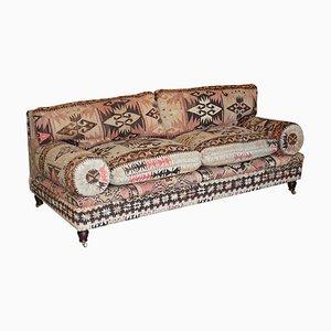 Bulster Arm Kilim Sofa by George Smith