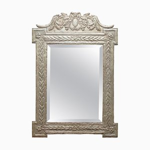 Indian Silver Repouse Wall Mirror