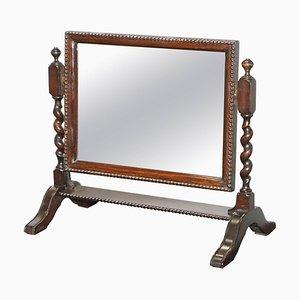 Regency Tabletop Cheval Mirror Barley Twist with Original Plate Glass, 1815
