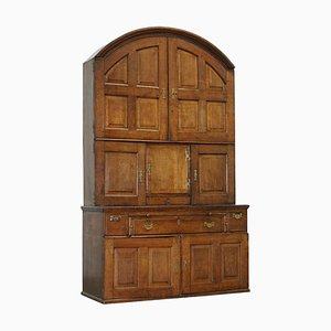 Oak Continental Arched Top Dresser Cupboard with Drawers, 1740s