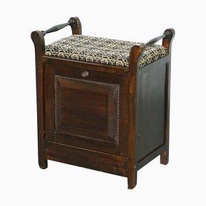 Viktorianischer Klavierhocker aus Hartholz