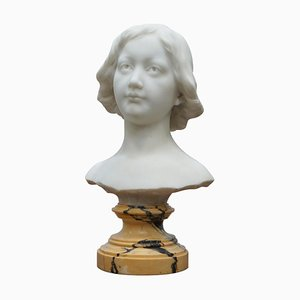Napoleon III French Solid Marble Bust
