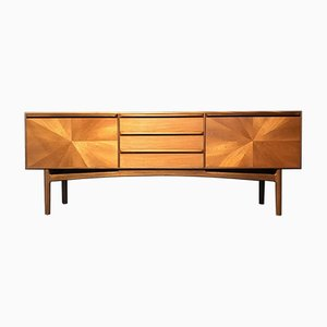 Mid-Century Teak Starburst Collection Sideboard by Tom Robertson for McIntosh, 1960s
