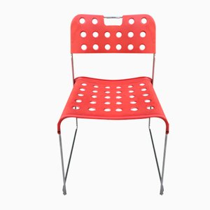 Omstak Stacking Chairs by Rodney Kinsman for Bieffeplast, 1960, Set of 9