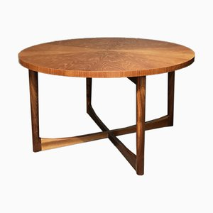 Mid-Century Round Teak Starburst Collection Coffee Table by Tom Robertson for McIntosh