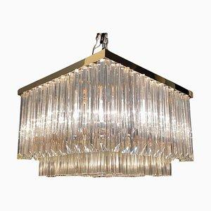 Mid-Century Prisma Einbaulampe aus Muranoglas