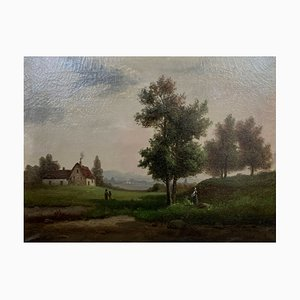 Óleo sobre lienzo, mostrada en la granja animada, 1880-1900
