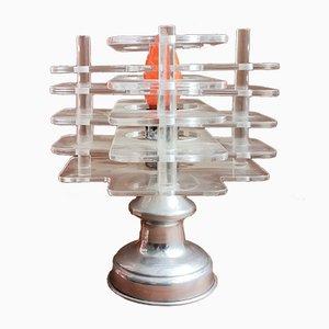Lámpara de mesa de acrílico transparente, años 60