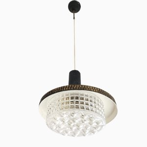 Metal and Glass Hanging Lamp from Stilnovo, 1950s