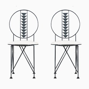 Midway Chair by Frank Lloyd Wright for Cassina, Italy, 1980s, Set of 2