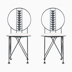 Midway Stuhl von Frank Lloyd Wright für Cassina, Italien, 1980er, 2er Set