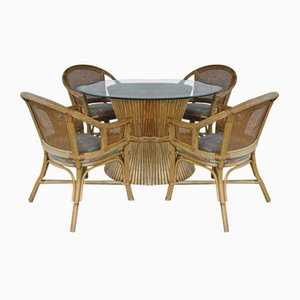 Bamboo Dining Set by McGuire, Set of 5