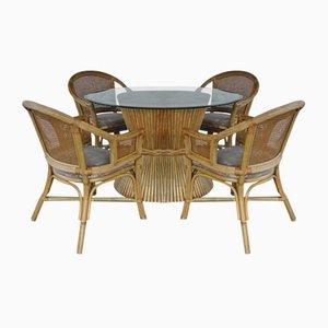 Bambus Esszimmer Set von McGuire, 5er Set