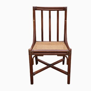 Silla de bambú con asiento de caña de McGuire