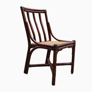 Bambus Stuhl mit Sitz aus Schilfrohr von McGuire