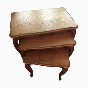 Tables d'Appoint Mid-Century en Bois, Set de 3