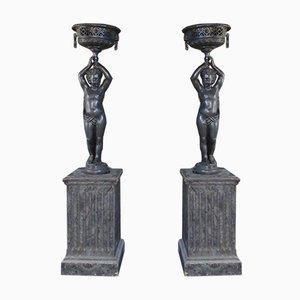 Statuen aus Gusseisen, 2er Set