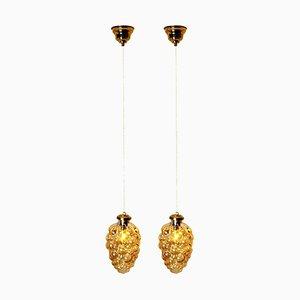 Lámparas colgantes de Limburg Tynell, años 60. Juego de 2