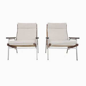 Lotus Model 1611 Lounge Chairs by Rob Parry for Gelderland, The Netherlands 1950s, Set of 2