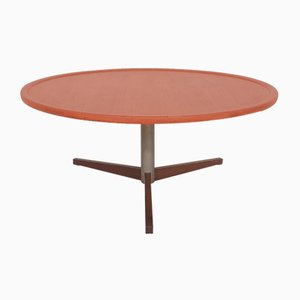 Mid-Century Round Teak Coffee Table, The Netherlands, 1950s