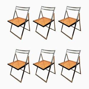 Folding Chairs, Set of 6