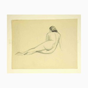 Unknown, Nude from the Back, Drawing, 1950s