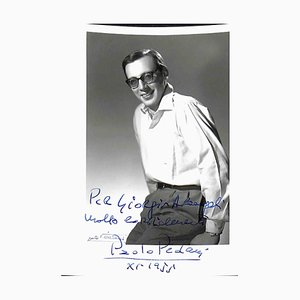 Unknown, Paolo Pedani Autographed Photograph, 1955