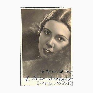 Unknown, Gianna Pederzini Autographed Photograph, 1940
