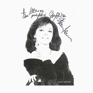 Unknown, Giusy Devinu Autographed Photograph, 1980s