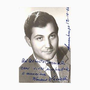 Unbekannt, Veriano Luchetti Autogramm, 1966
