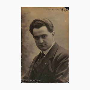 Unknown, Giuseppe Taccans Autographed Photograph, 1920